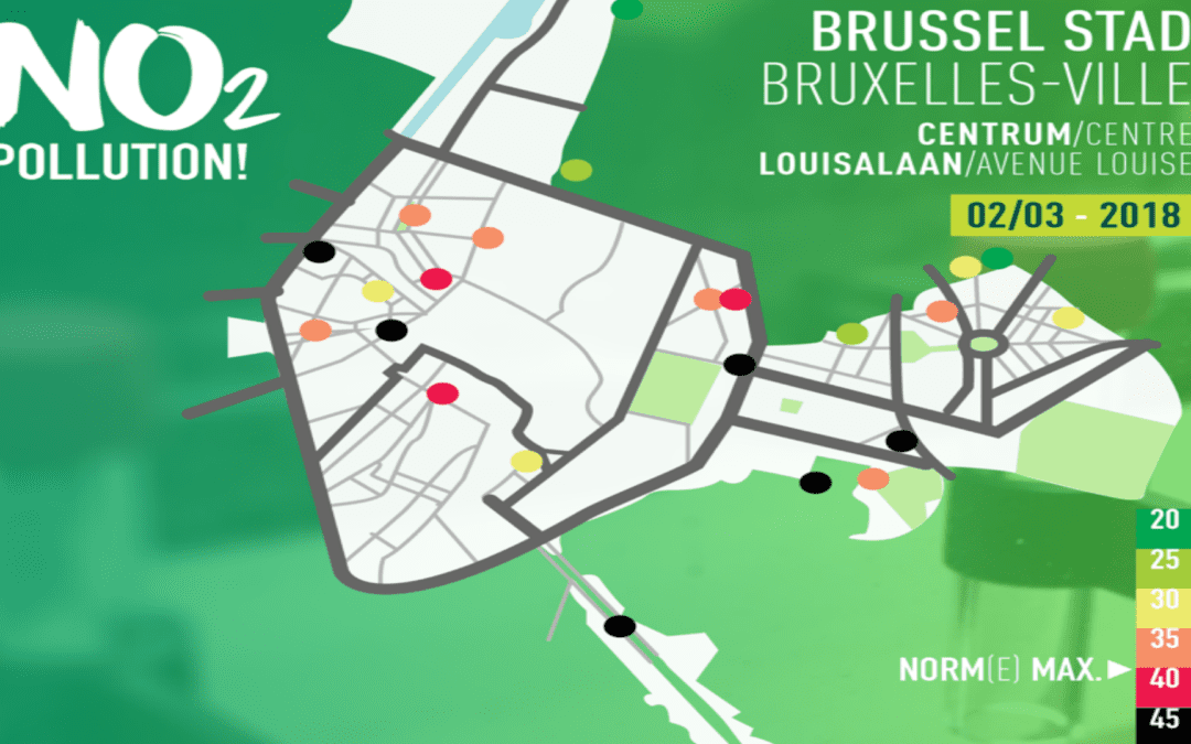 Ook in Stad Brussel is Luchtkwaliteit ronduit slecht. Ecolo-Groen stelt structurele ingrepen voor.